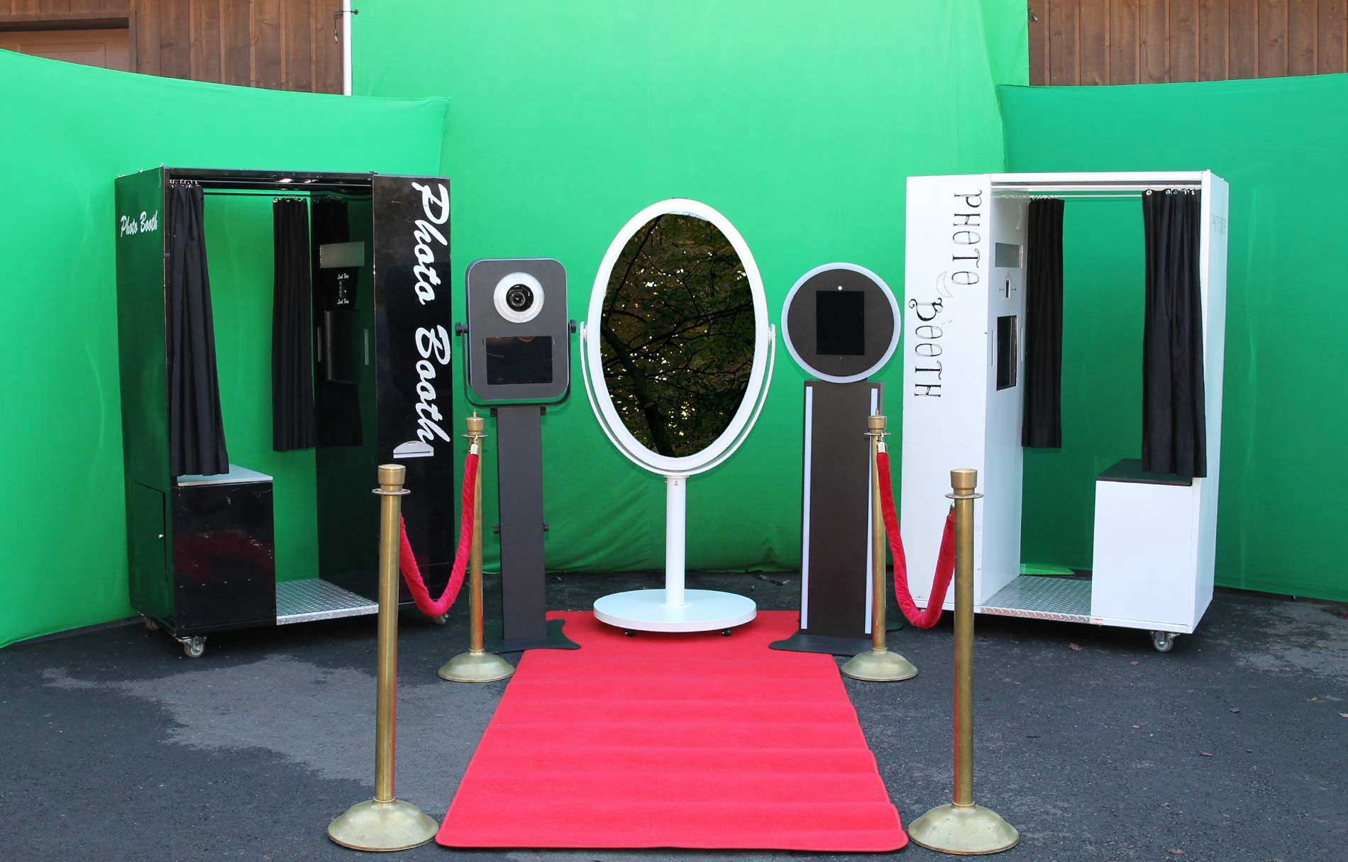 Two Photo Booths Ready for Event