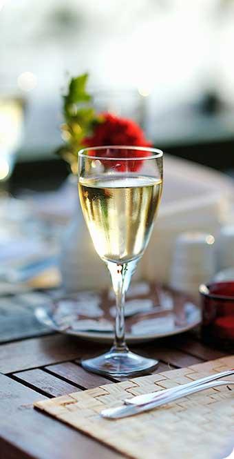 Wine Glass at Seattle Wedding
